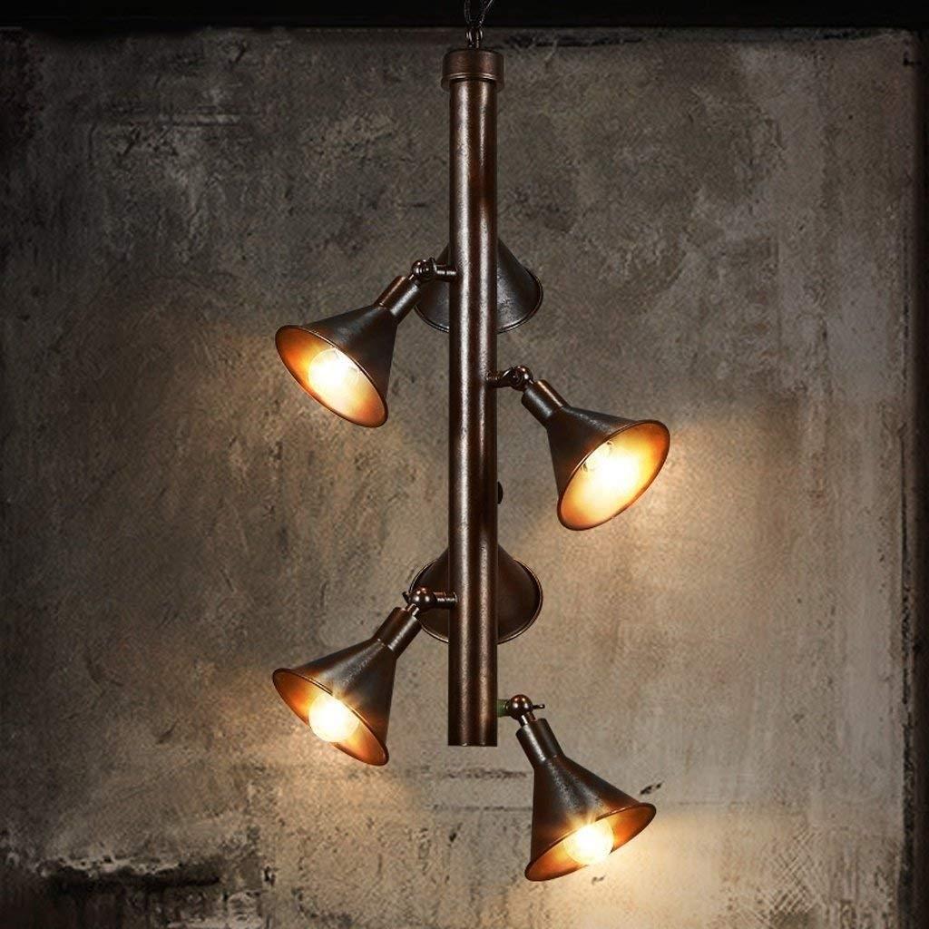 工業用ヴィンテージペンダントライト4ライトクリエイティブ錬鉄製金属スチームパンク水道管天井ランプの装飾レストランカフェバーキッチン B07RTR6LJG