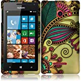 Warrior Wireless (TM) For Huawei Ascend W1 H883G Rubberized Design Cover Case - Antique Flower + Bundle = (ITEM + CELLPHONE STAND) - By TheTargetBuys