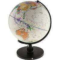 Baoblaze Large Swivel Spining World Globe Model School Educational Teaching Kits Children Leaning Toys - White, 25cm