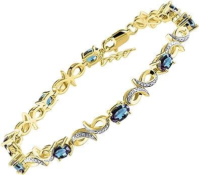 Peora Wrist Hugging Round Cut Created Ruby Gemstone Bracelet in Sterling Silver
