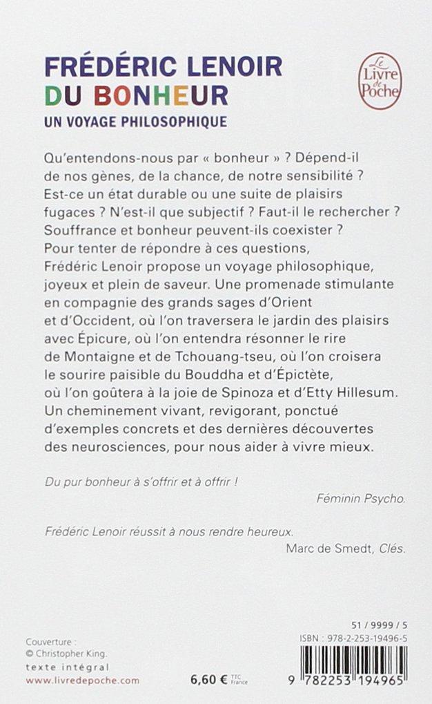 Bien-aimé Du Bonheur, un voyage philosophique: Amazon.fr: Frédéric Lenoir  UG48