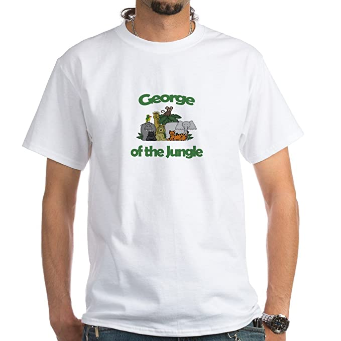 9e8fc803a Amazon.com: CafePress George of The Jungle White T-Shirt Cotton T ...