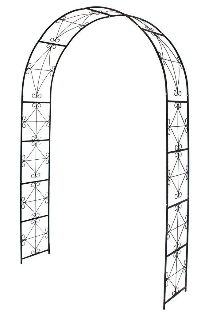 1. GO Steel Garden Arch, 7'2'' High x 4'5'' Wide, Garden Arbor for Various Climbing Plant, Outdoor Garden Lawn Backyard