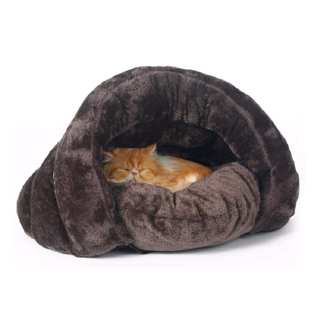 Brown 50x50x36cm brown 50x50x36cm Pet Dog Cat House Bed Cats Winter Warm Cats Sleeping Bags pet Kennel mats Winter Dogs Four Seasons,Brown,50x50x36cm