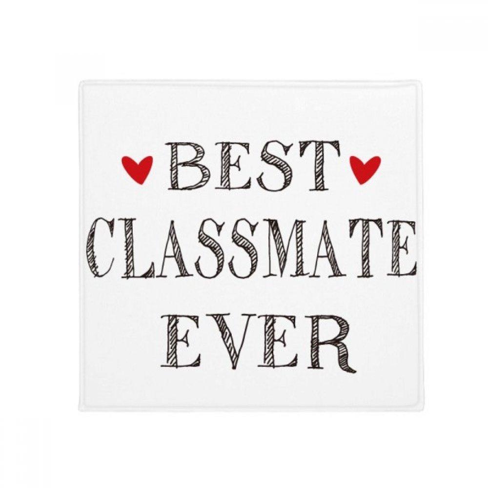 DIYthinker Best Classmate Ever Quote Friendship Anti-Slip Floor Pet Mat Square Home Kitchen Door 80Cm Gift