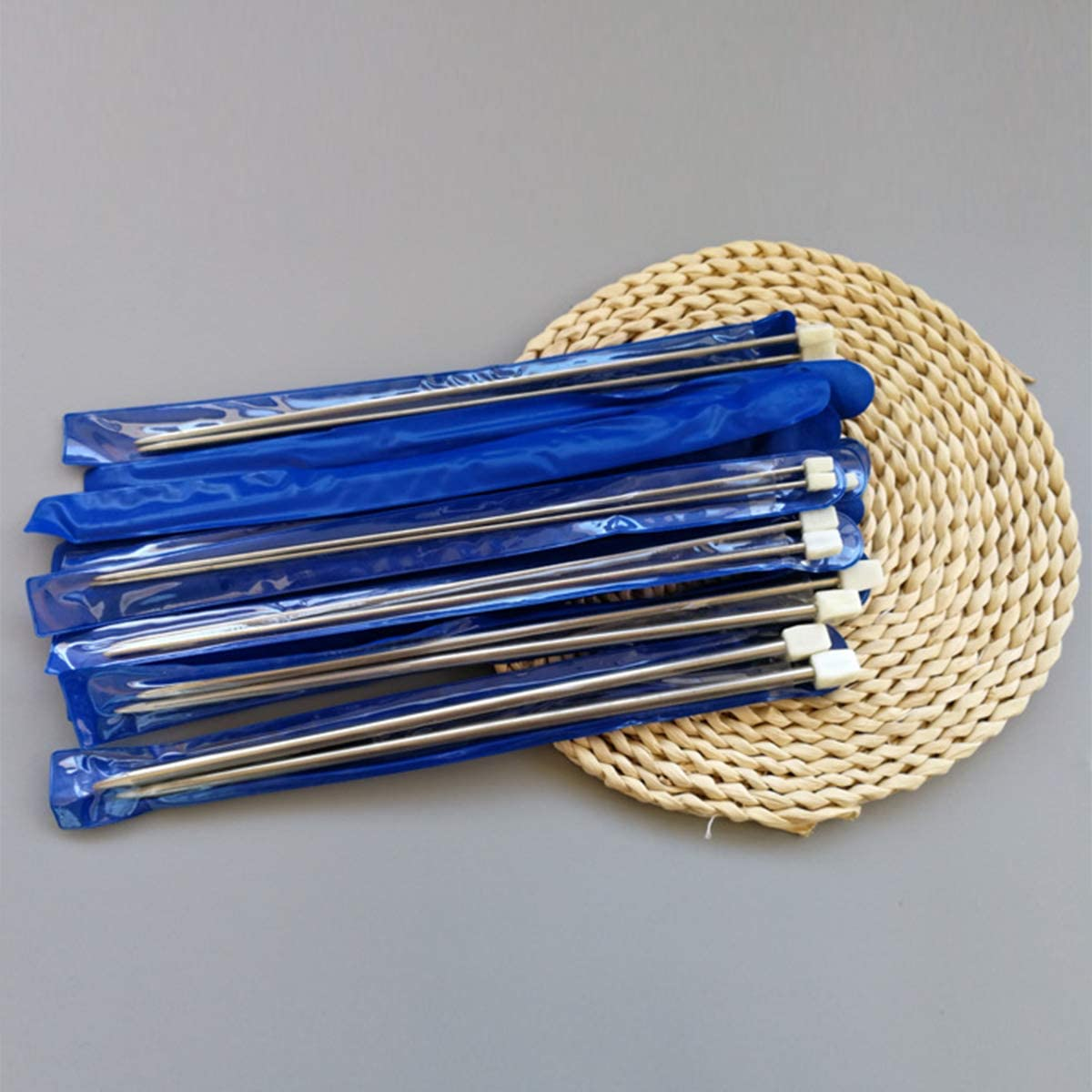 11 paia di ferri da maglia in acciaio inox ferri dritti per maglieria in diverse misure Ferri da maglia ferri da maglia circolari lunghezza 36 cm