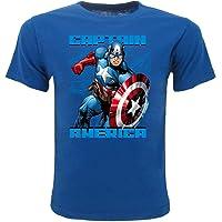 Marvel Camiseta de Capitán América Original Super Héroe Avengers para niño
