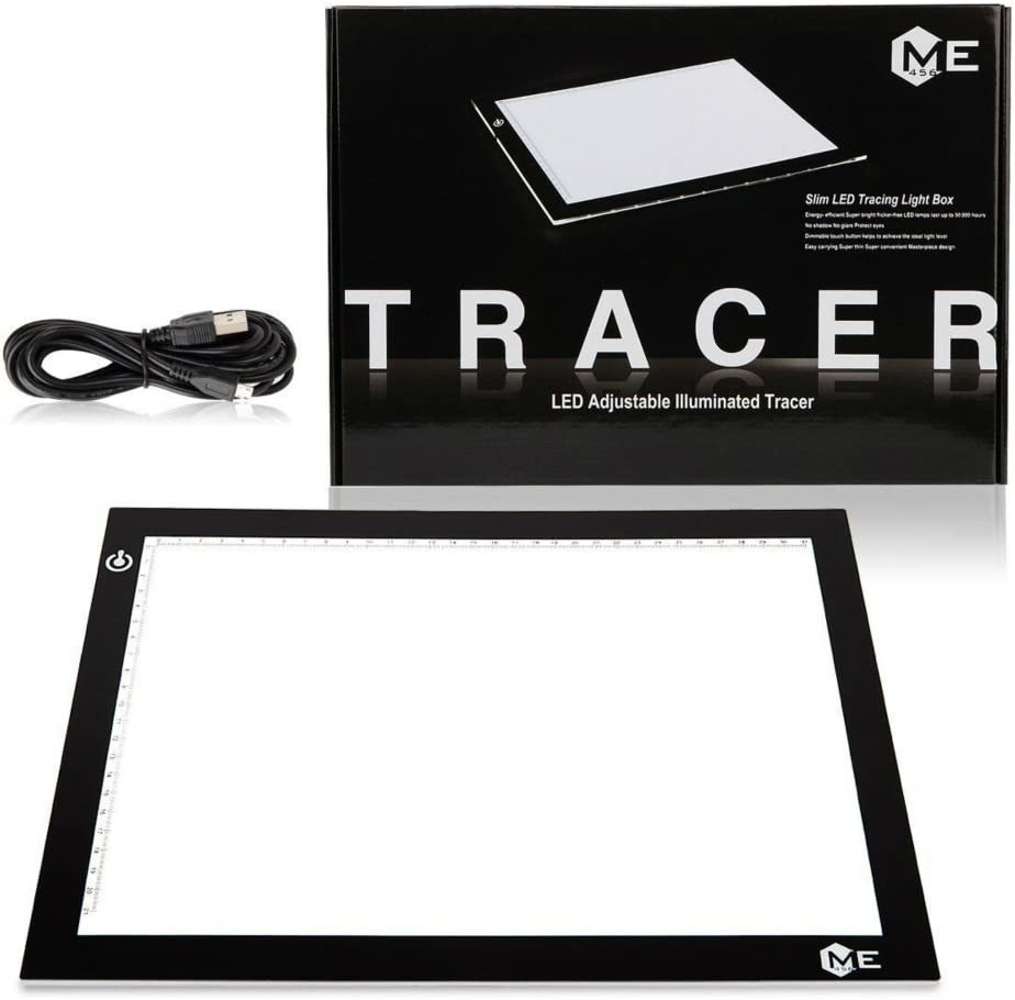 ME456 A4 LED Light Box 9x12 Inch Light Pad Only 5mm Ultra-Thin USB Power Light Table for Tracing
