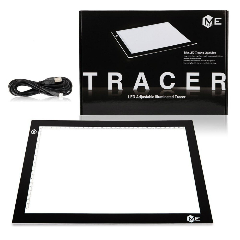 ME456 A4 LED Light Box 9x12 Inch Light Pad Only 5mm Ultra-Thin USB Power Light Table for Tracing by ME456
