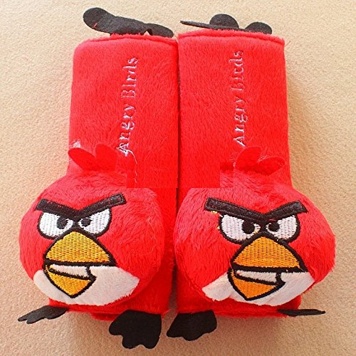 CJB Angry Bird Red Plush Seat Belt Cover Shoulder Pad Cushion (US Seller) (Frozen Seat Belt Shoulder Pads compare prices)