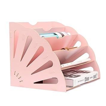 Amazon.com: Organizador de archivos de madera con 5 ...