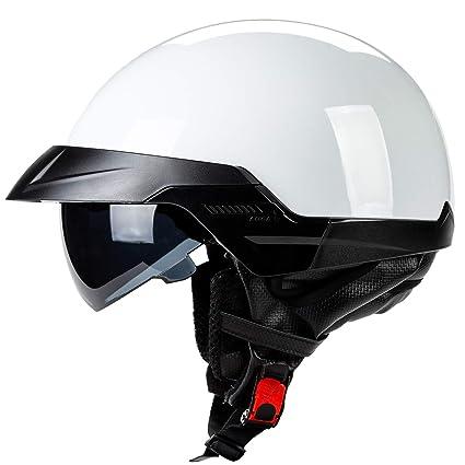 Amazon Com Yedina Adult Harley Motorcycle Half Helmet With