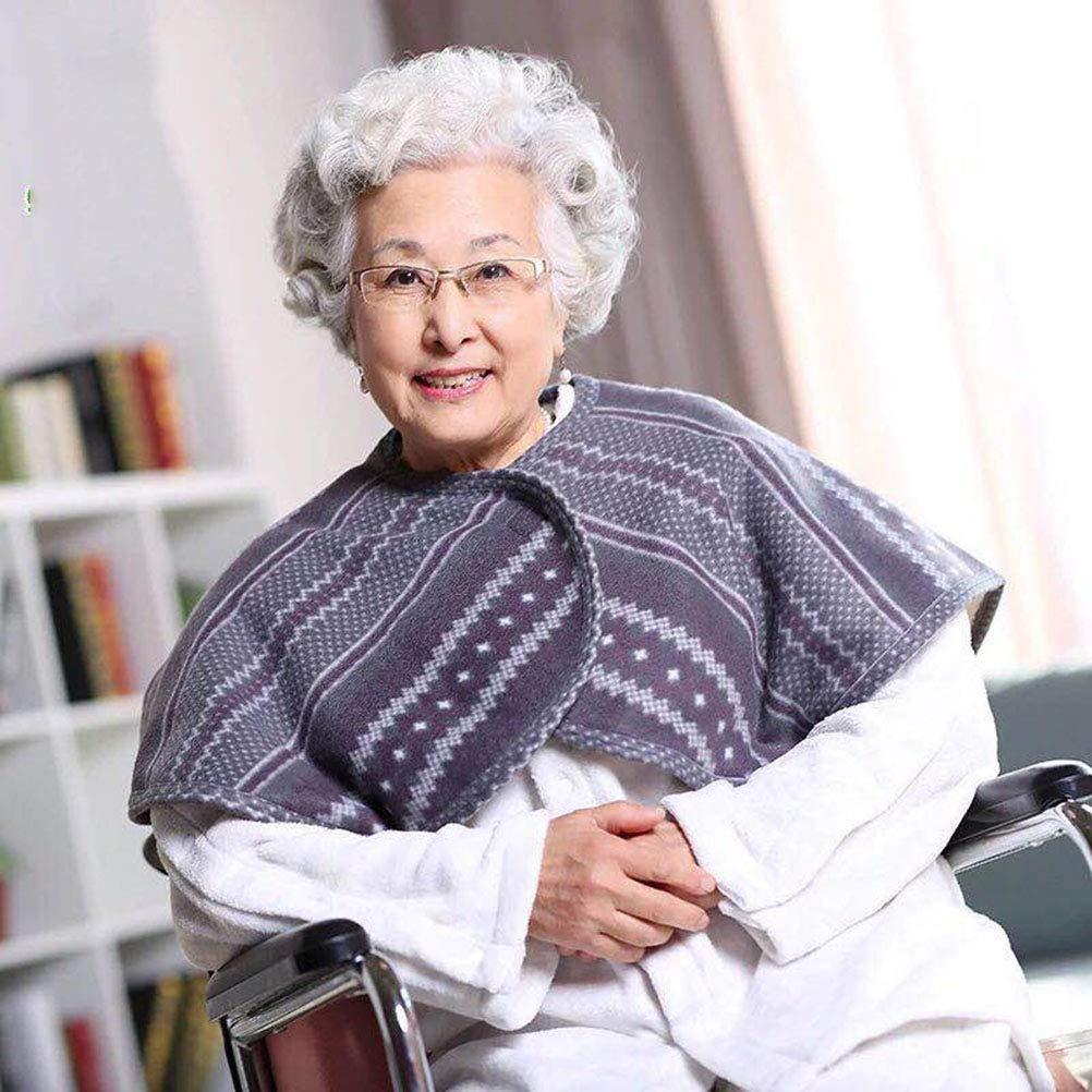 Plus Velvet Thickened Wheelchair Care Shawl, bedridden Patient Shoulder Warm Blanket Cloak Shoulder Blanket, Suitable for Aged Care Products by ktzhk