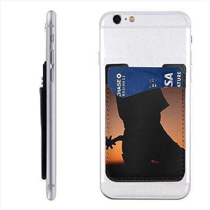 Amazon com: Mojikoma Cowboy Boots Shadow Phone Card Holder