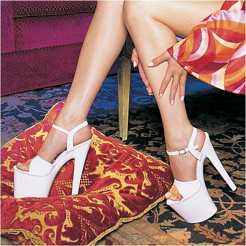 Ellie Schoenen Dames 821-juliet Platform Sandaal Wit