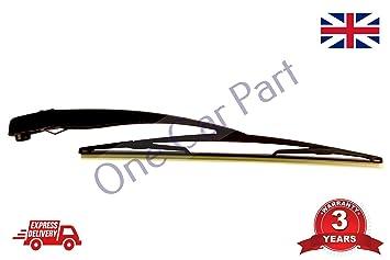 Brazo del limpiaparabrisas trasero y escobilla 406 mm para Corsa C/Combo 2000-2010: Amazon.es: Coche y moto