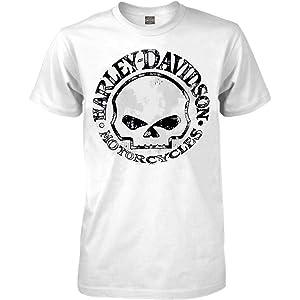 Harley-Davidson Mens Sweatshirt Willie G Skull H-D Pullover Black 30296648