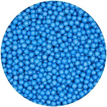 Natural 4 mm azul tuercas leche de soja Gluten OMG libre Shimmer - perlas: Amazon.es: Hogar