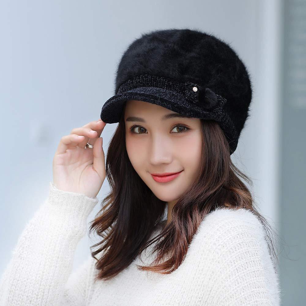 Beret Cap Women Winter Warm Leopard Print Fashion British Style Hat,Wonderful Gifts