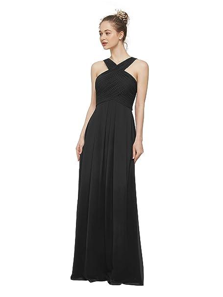 AW Chiffon Maxi Bridesmaid Dresses Plus Size Prom Dresses ...