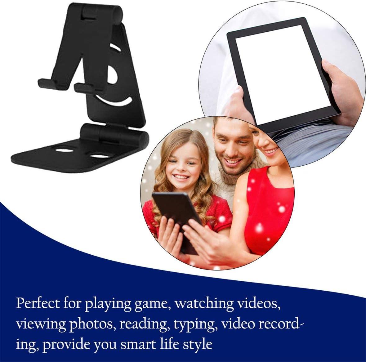 Heaviesk Staffa Portatile Pieghevole per Smartphone con Supporto per Tablet da Tavolo Portatile Mini Supporto da Tavolo per Cellulare