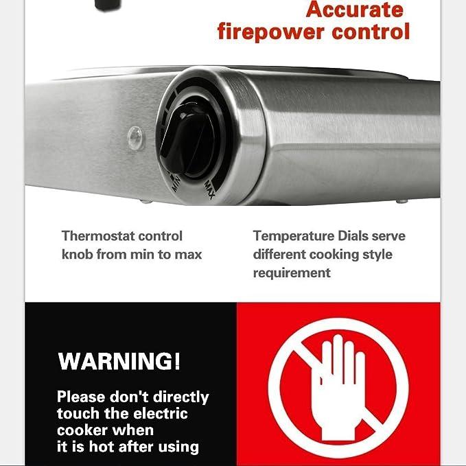 Amazon.com: Techwood es-3201 C 2 quemador eléctrico ...
