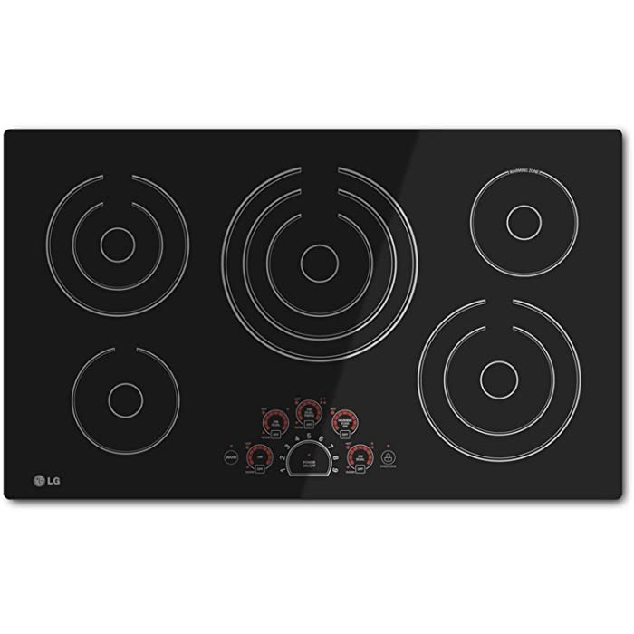 "LG 36"" BLACK RADIANT ELECTRIC SMOOTHTOP COOKTOP WITH SMOOTHTOUCH CONTROLS LCE3610SB"