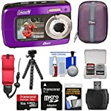 Coleman Duo2 2V8WP Dual Screen Shock & Waterproof Digital Camera (Purple) with 16GB Card + Case + Floating Strap + Flex Tripod + Reader + Kit