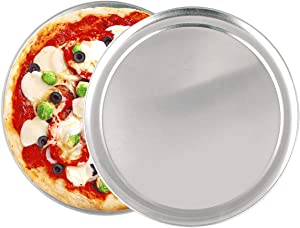 2 Pack Pizza Baking Pan Pizza Tray -12 Inch Aluminum Pizza Pan Round Pizza Baking Sheet Oven Tray, Nonstick & Healthy Bakeware for Oven Baking