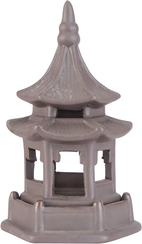 KESYOO Miniature Pagoda Statue Zen Garden Pagoda Figurine Chinese Zen Asian Decor Bonsai Decoration Miniature Accessories