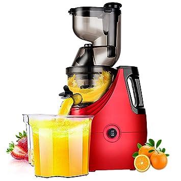 DULPLAY Silencioso Disminuya la velocidad de Masticar exprimidor, Sano fruta y verdura 180 vatios Bpa liberan Metálicos Exprimidor-rojo 46x22cm(18x9inch): ...