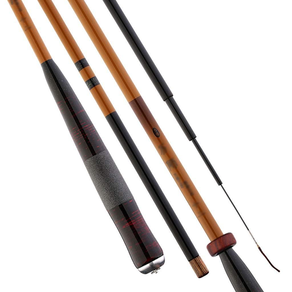 Mano de bamb/ú ca/ña de Pescar ca/ña de Pescar telesc/ópica de Carbono Corriente Ultraligera Carpa port/átil Agarre c/ómodo//Aparejos de Pesca Tama/ño : 2.7m