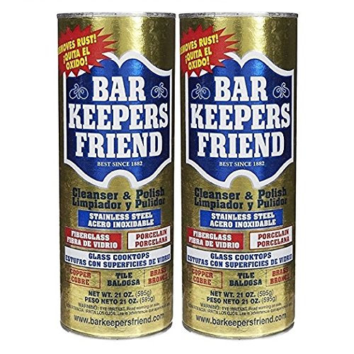 Bar Keepers Friend Powdered Cleanser 21-Ounces (2-Pack) (Brass Backsplash)