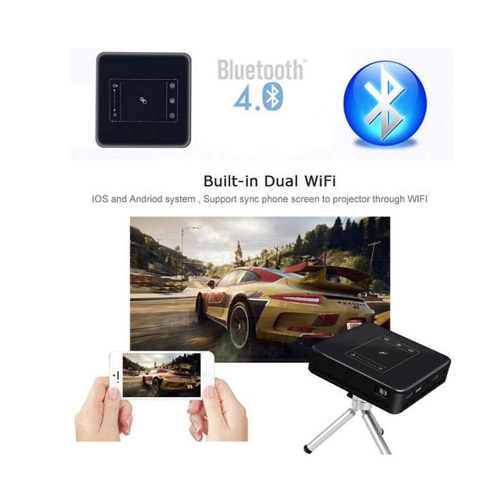 DBSCD Proyector Full HD Mini proyector portátil WiFi Bluetooth ...