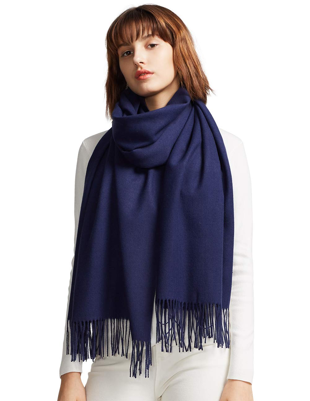 MaaMgic Womens Large Soft Cashmere Feel Pashmina Shawls Wraps Light Scarf