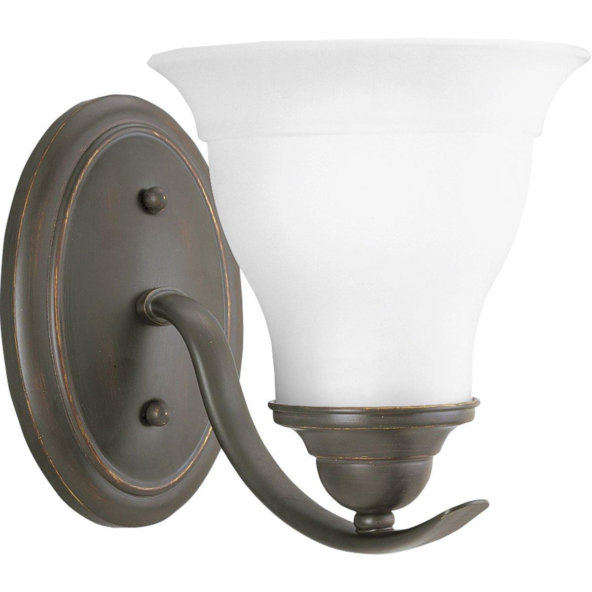 progress lighting p319009 1light bath bracket brushed nickel vanity lighting fixtures amazoncom