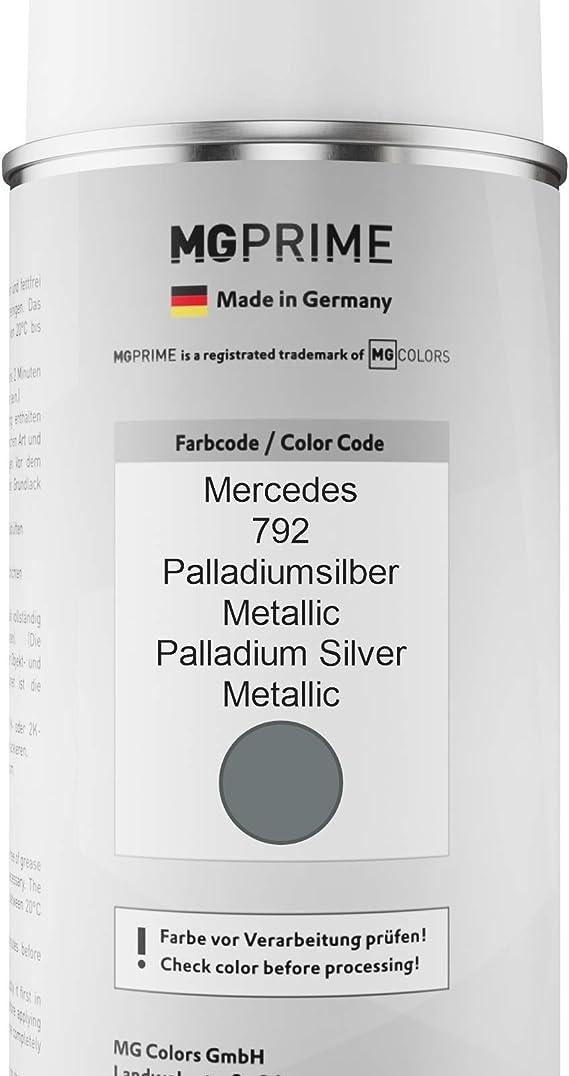 Mg Prime Autolack Sprühdosen Set Für Mercedes 792 Palladiumsilber Metallic Palladium Silver Metallic Basislack Klarlack Spraydose 400ml Auto