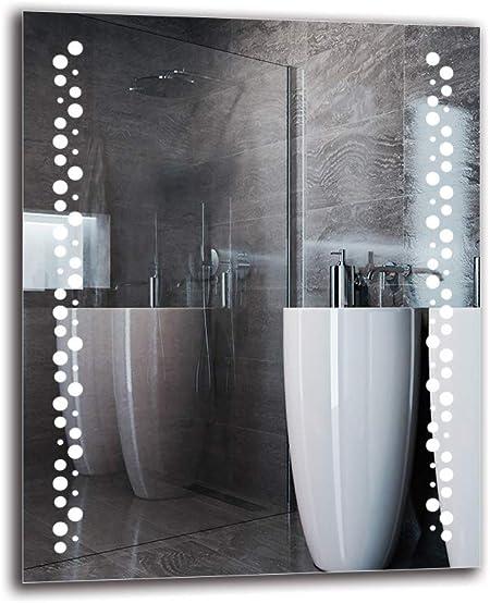 Miroir avec /éclairage Pr/êt /à laccrochage Blanche Chaude 3000K Miroir Lumineux Miroir LED Premium Taille du Miroir 40x40 cm Miroir Mural ARTTOR M1CP-22-40x40 Miroir de Salle de Bain