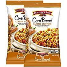 Pepperidge Farm Corn Bread Classic Stuffing Pack of 2, 14 Oz Bag | Toasted Corn Bread Blended With Select Seasonings | Turkey Poultry Casserole | Holiday Thanksgiving Christmas Dinner