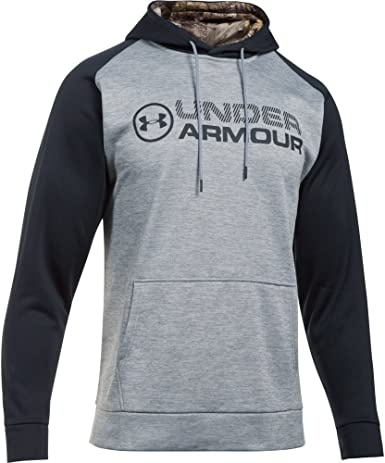 Under Armor Mens Storm Armour Fleece Stacked Hoodie
