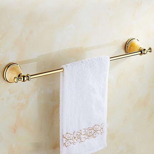 YMFIE Cuarto de baño de mármol Dorado Toalla Polo Todo el Cobre ...