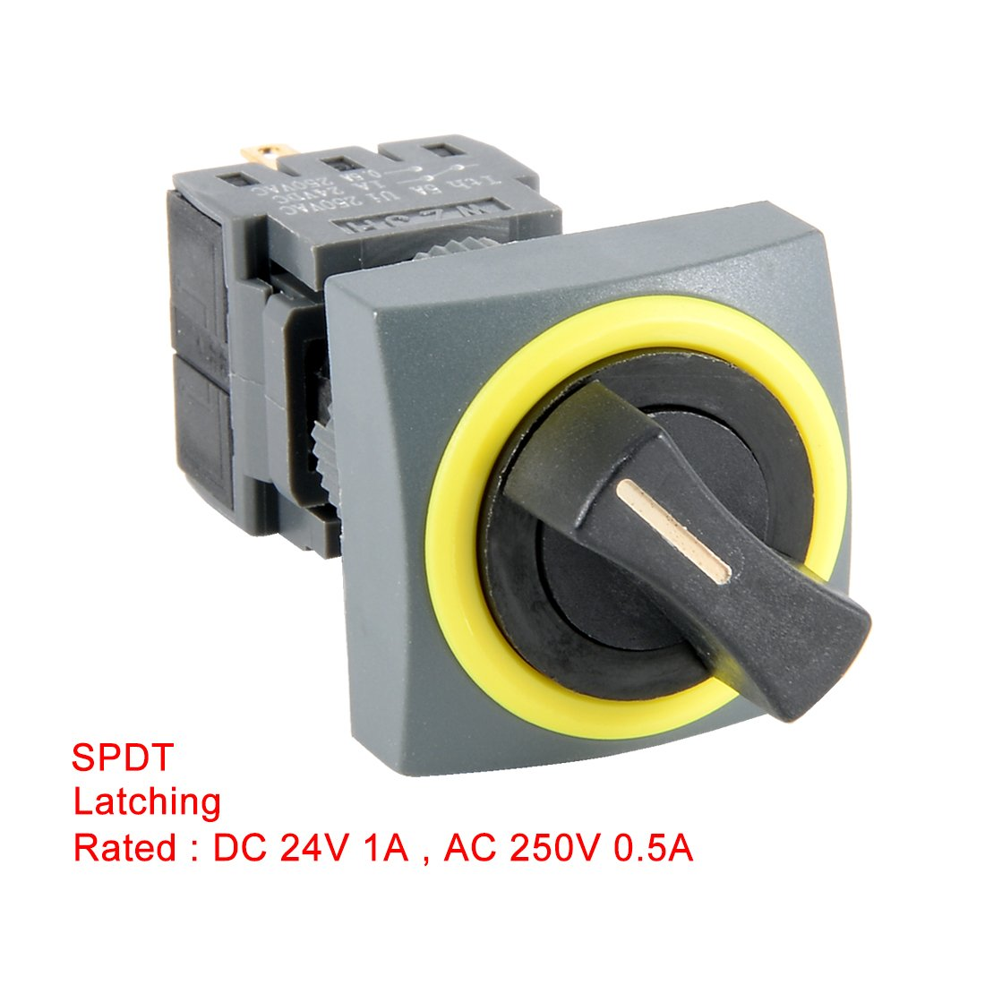 LA38//203 30mm Montaje En Panel N/ÚMERO+NC DPST Posici/ón 2 Interruptor Selector Rotatorio