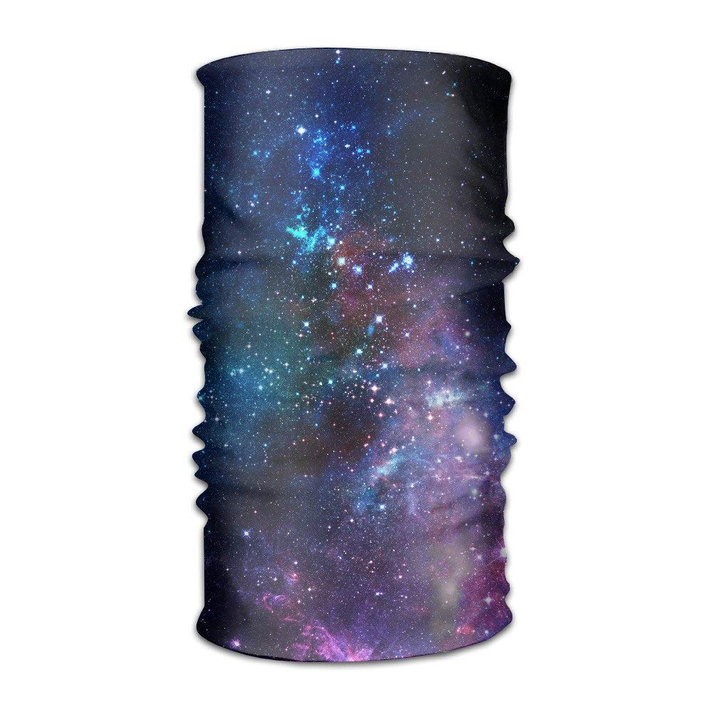 Space Galaxy Sport Stretchable Casual Headwear Head Wrap Neck Gaiter for Fishing Hiking Running Motorcycling