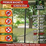 TheFitLife Magnetic Screen Door - Heavy Duty Mesh Curtain with Full Frame Hook and Loop and Powerful Magnets that Snap Shut Automatically (38''x97'' - Fits doors up to 36''x96'' Max)