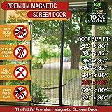TheFitLife Magnetic Screen Door - Heavy Duty Mesh