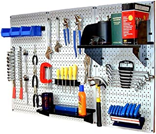 product image for Wall Control 30-WRK-400WB Standard Workbench Metal Pegboard Tool Organizer,White/Black