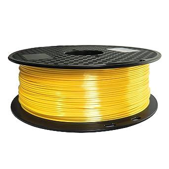 Filamento PLA de seda amarillo de 1,75 mm para impresora 3D, color ...
