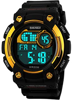 amazon com futuristic men s womens black waterproof fashion mastop outdoor sports watches led digital chronograph waterproof dress mens watches black rubber bands