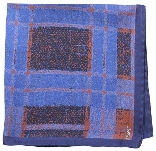 YSL-Mens-Double-Sided-Plaid-Pocket-Square-Blue