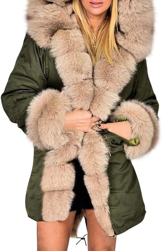 Lavany Little Girls Down Coats Faux Fur Cloak Jacket Winter Hoodie Thick Outerwear